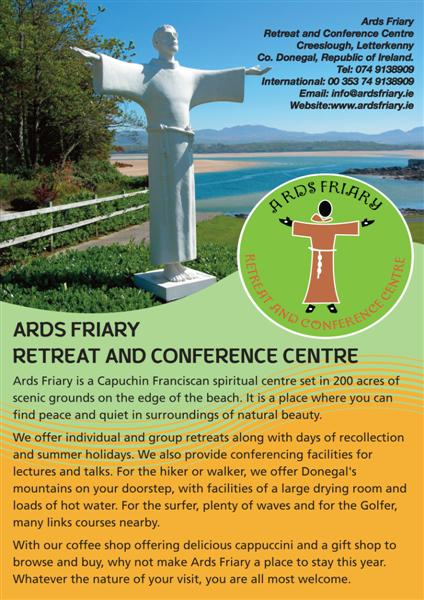 Ards Friary Information Leaflet - click to download as PDF file